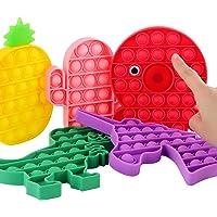 [EOFY Sale] PhyPa 5 Pack Pop Toy Pop Bubble Unicorn Dinosaur Octopus Pineapple Cactus Sensory Fidget Toy Anxiety Stress…