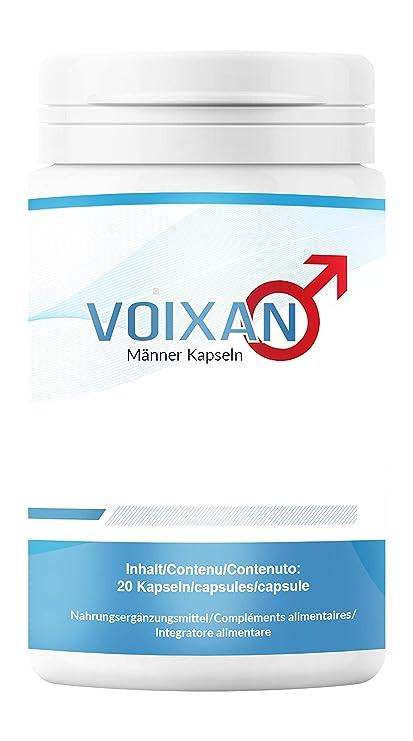 Ayuda para hombres | 100% natural | altas dosis | Suplementos | 20 capsulas | Voixan