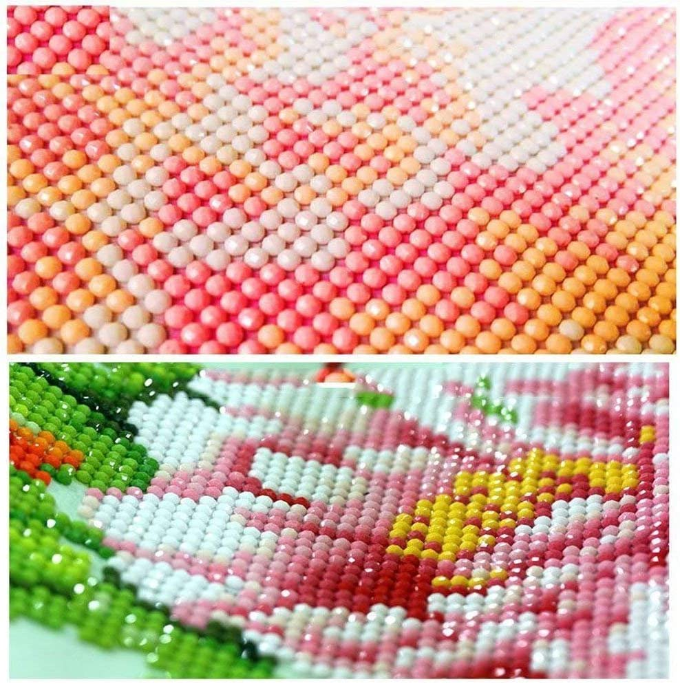 30cm DIY 5D Diamond Painting Kits Round Drill Crystal Rhinestone Embroidery Pictures Arts Craft for Home Wall Decor Gift Colored Dog 30