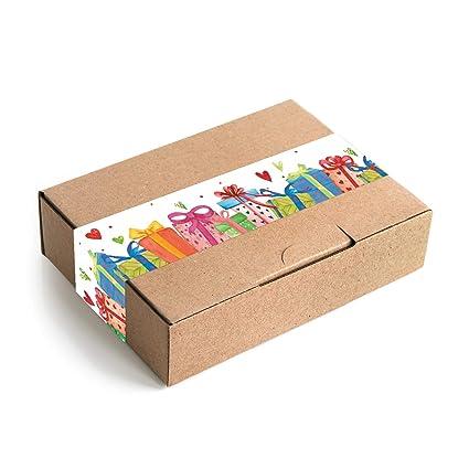 Logbuch-Verlag - Caja de regalo de papel de estraza con ...