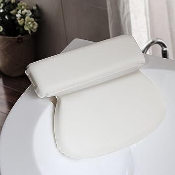Bath Pillow Spa Comfortable Soft Cushion With Suction Cups for Bathroom Bathtub