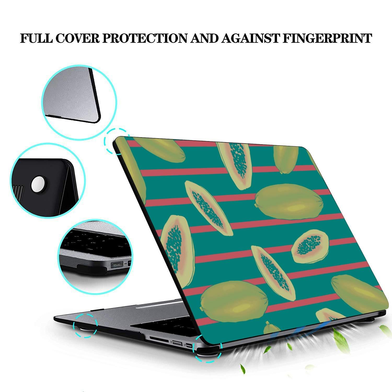 2018 MacBook Pro Case Summer Tropical Cute Papaya Fruit Plastic Hard Shell Compatible Mac Air 11 Pro 13 15 MacBook Pro 13 Cases Protection for MacBook 2016-2019 Version