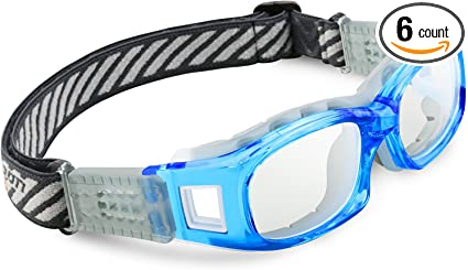 Amazon.com : PONOSOON Sports Goggles for Basketball Football Volleyball Hockey Paintball Lacrosse 851 (Blue) : Sports & Outdoors