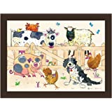 Farmyard Designed Padded Faux Leather Lap Tray