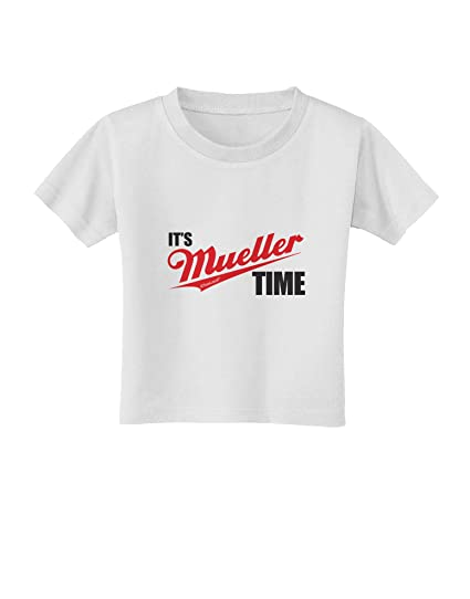 e9c28fc71 TOOLOUD It's Mueller Time Anti-Trump Funny Toddler T-Shirt - White - 2T
