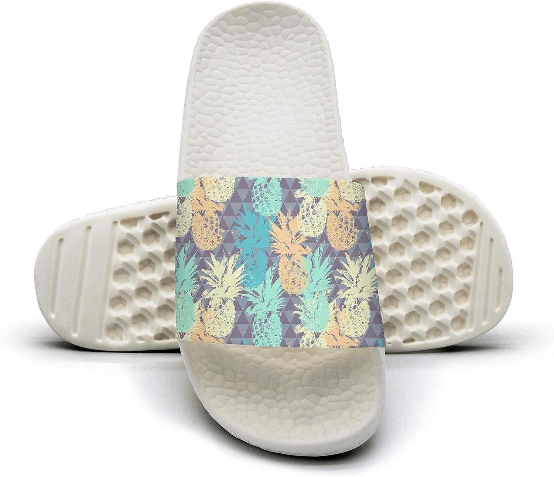 Mens Pineapple Fruit Art Non-Slip Soft Foams Slipper Home Slide Sandals
