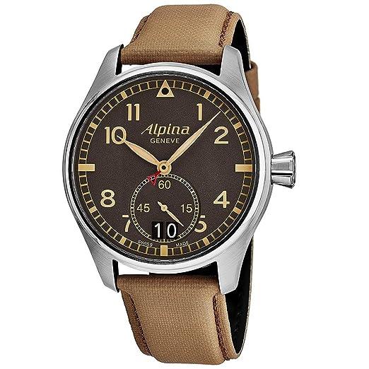 Alpina Geneve Startimer Pilot AL-280BGR4S6 Reloj de Pulsera para Hombres Legibilidad Excelente: Amazon.es: Relojes