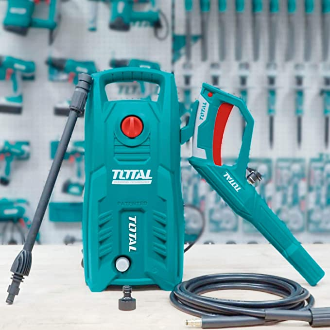 Total 1400-WATT High Pressure Washer 130Bar (1900PSI) with TSS Auto Shut Off and 100% Copper Wire Motor 1