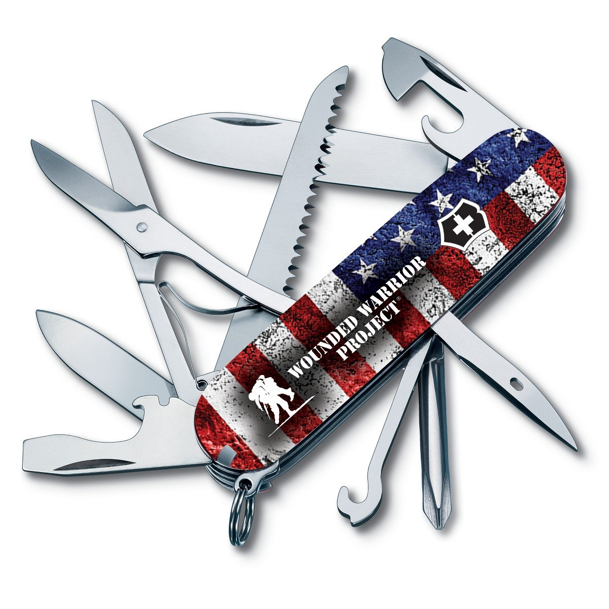 Victorinox Swiss Army Fieldmaster Pocket Knife 55075.US2, Wounded Warrior Project Collection, American Flag with WWP Logo by Victorinox