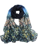 Sannysis® Mujeres Flor gasa robó; Larga bufanda del mantón