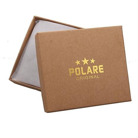 2f745d28a597 Amazon.com: Polare Men's Crazy Horse Cowhide Leather Trifold Wallet ...