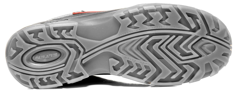 Elten Senex ESD S2 - Zapatillas de seguridad para hombre, zapatillas de trabajo certificadas según la norma EN ISO 20345: S2, con refuerzo de plástico, color Negro, talla 40 EU