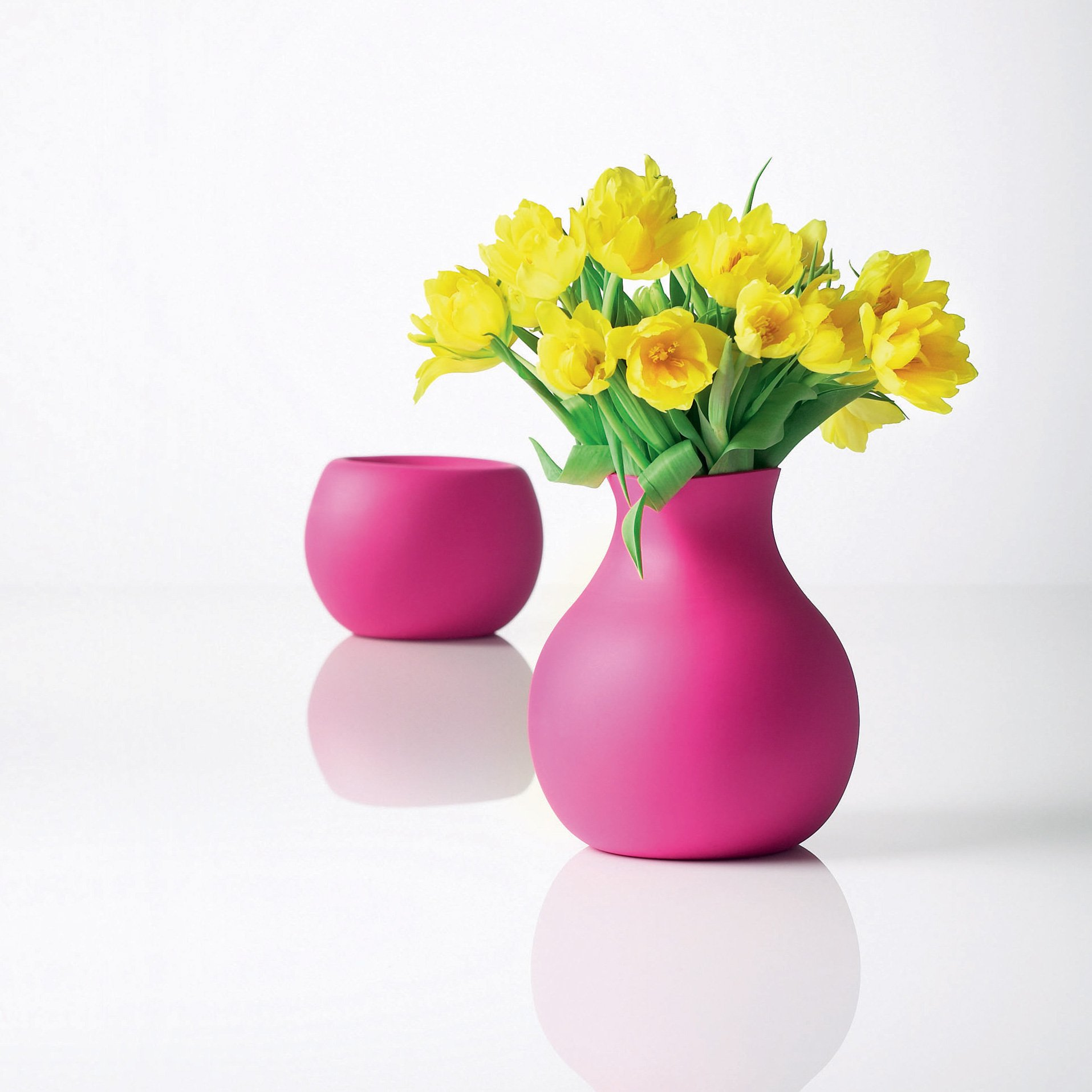 Rubber vase, pink, large