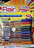 Flair Xtra Sparkle Glitter Gel Pen -Set of 10 Colours