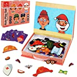 Aitbay Magnetic Puzzle 3D Jigsaw Puzzle Roly Play Set Magnetic Book Intelligent Brain Training Game Fine Motor Skill Educatio
