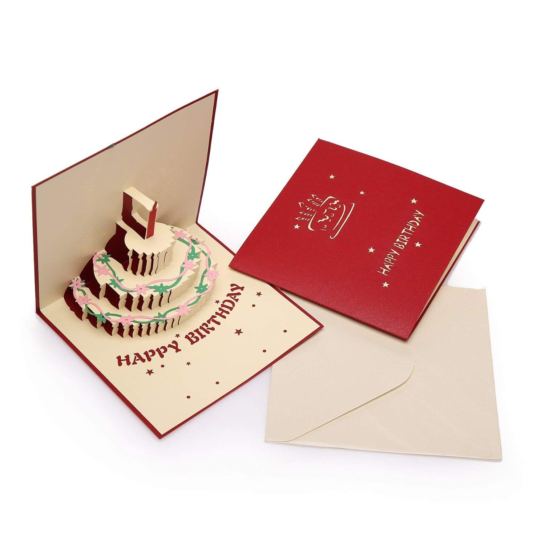 ignislife Papercraft 3d pop-up tarjeta de (Varios tarjetas de felicitación (Varios de Diseños) 11b845