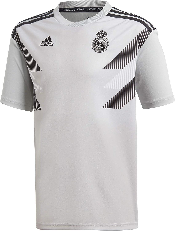 Real Madrid adidas 201819 Pre Match Training Top Gray