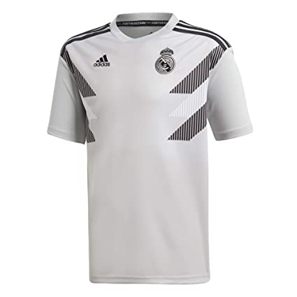 ad01c18f230f Amazon.com : adidas 2018-2019 Real Madrid Pre-Match Training Football  Soccer T-Shirt Jersey (Grey) - Kids : Sports & Outdoors