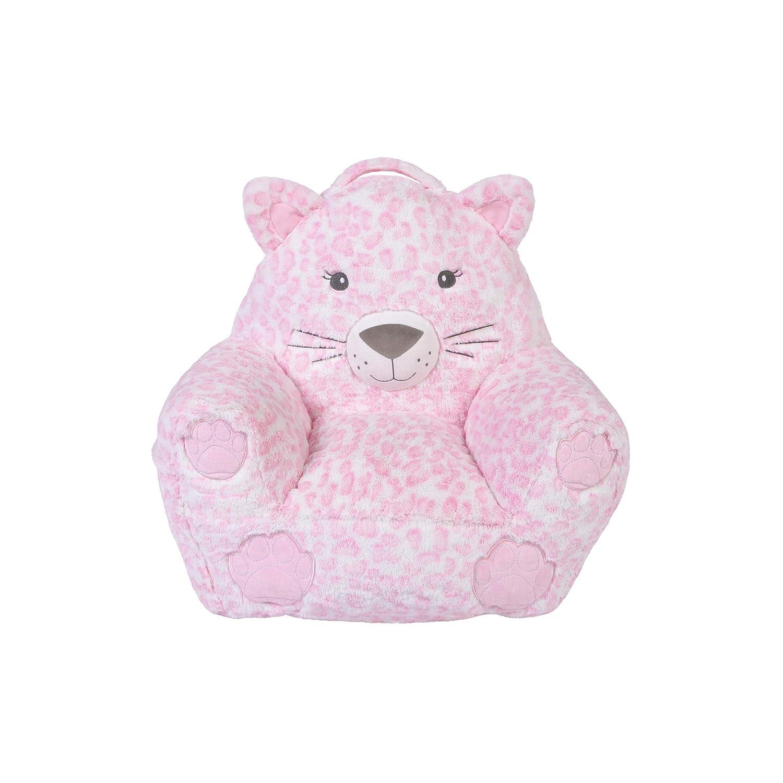 Cuddo Buddies Pink Leopard Character Chair
