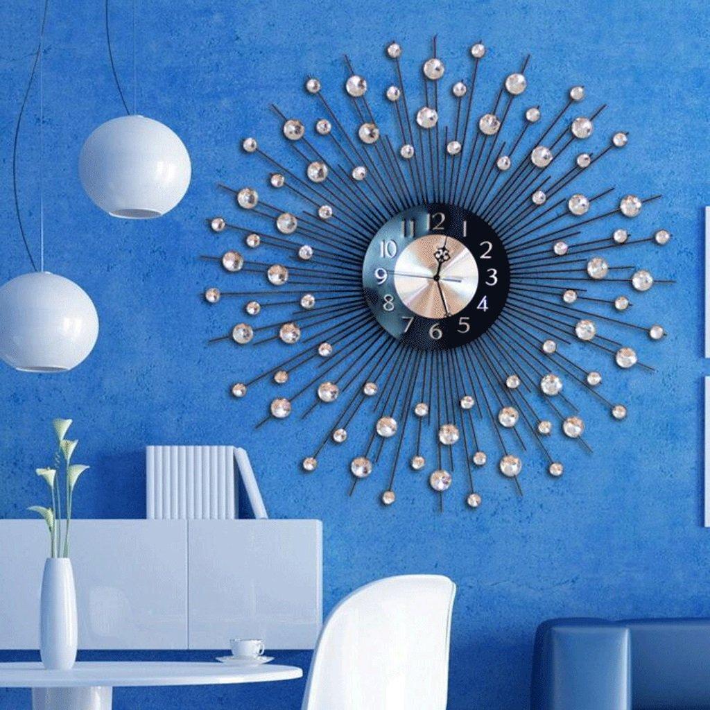 GAOLILI リビングルームクリエイティブウォールクロックアートパーソナリティクロックレストラン静かな装飾的な壁時計 B07C3PGSSV