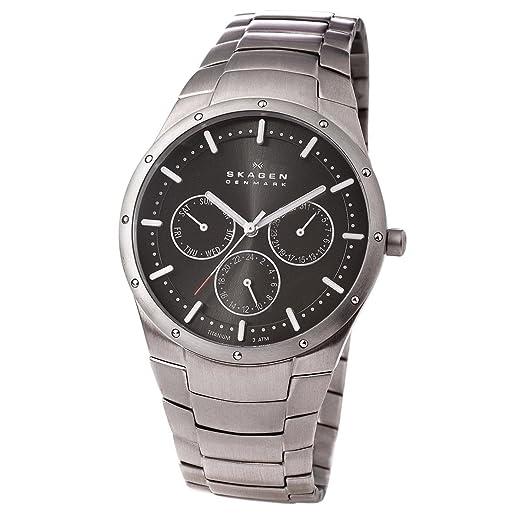 Skagen 596XLTXM - Reloj de caballero de cuarzo (japonés), correa de titanio color gris: SKAGEN Designs: Amazon.es: Relojes