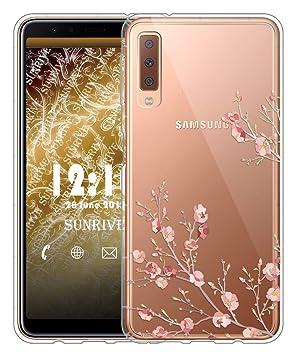new photos cf7dc 66736 Sunrive Case For Samsung Galaxy A7 (2018), Ultra Slim Transparent Soft  Premium TPU Silicone Back Rubber Bumper Protector Cover air cushion ...