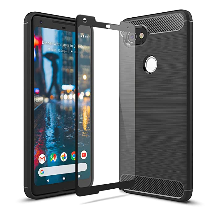 sports shoes ec116 50488 Olixar Google Pixel 2 XL Case with Screen Protector - 360 Degree Full Body  Cover - Edge to Edge Tempered Glass Sentinel - Front and Back Tough Rugged  ...