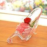 [florence du ]母の日ギフト プリザーブドフラワー ピンクカーネーション&赤バラ ハイヒールアレンジメント ガラスの靴 花 ギフト フラワーギフト 結婚 誕生日 プレゼント シンデレラ 母の日 ギフト 母の日のプレゼント