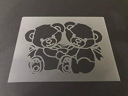 Amazon com: Custom Stencil Bear #10 7mm Thick, Grizzly