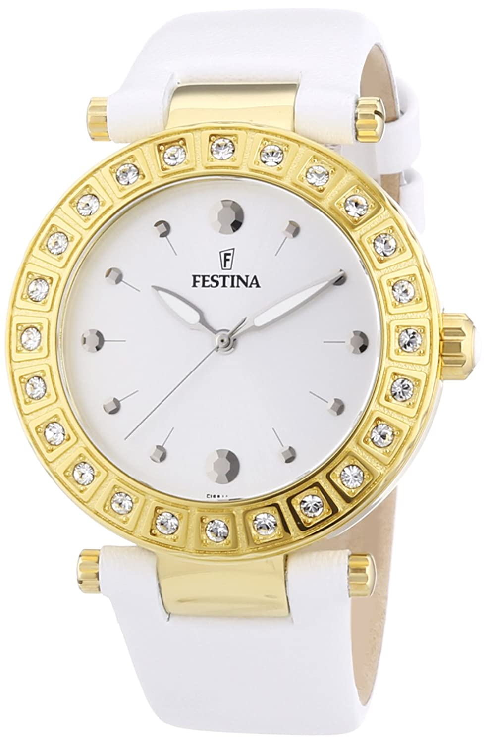 Amazon.com: Festina F16646/1 - Womens Wristwatch, Leather, color: White: Watches