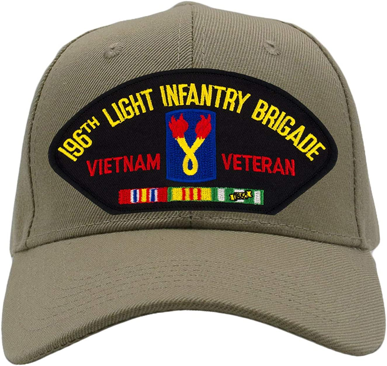 Vietnam Hat//Ballcap Adjustable One Size Fits Most PATCHTOWN 196th Light Infantry Brigade