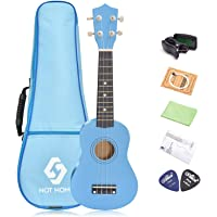 "NOT HOME® 21"" Soprano Ukulele with a Carrying Bag and a Digital Tuner, Specially Designed for Kids, Students and Beginners (Sky Blue)"