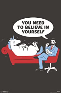 """Trends International Snorg Tees Unicorn Wall Poster 22.375"""" x 34"""""""