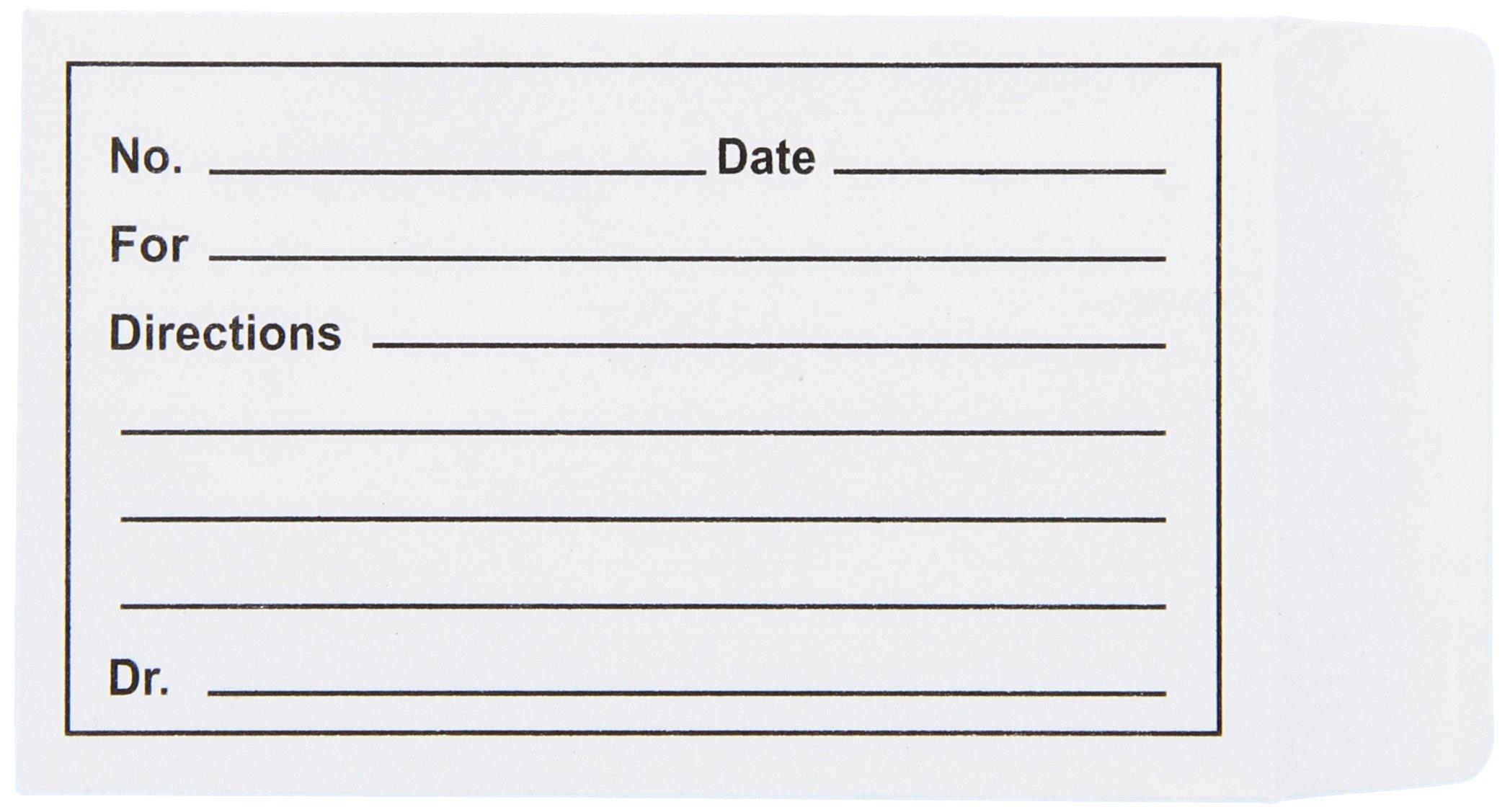 Grafco 9600SS Printed Pill Envelope, 1000 Envelopes (Pack of 1000)