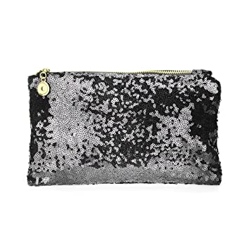 8f18e8ee24bb3 Lady Black Clutch Sequin Purse, Funky Glitter Evening Clutch Envelope Clutch  Purses for Women,