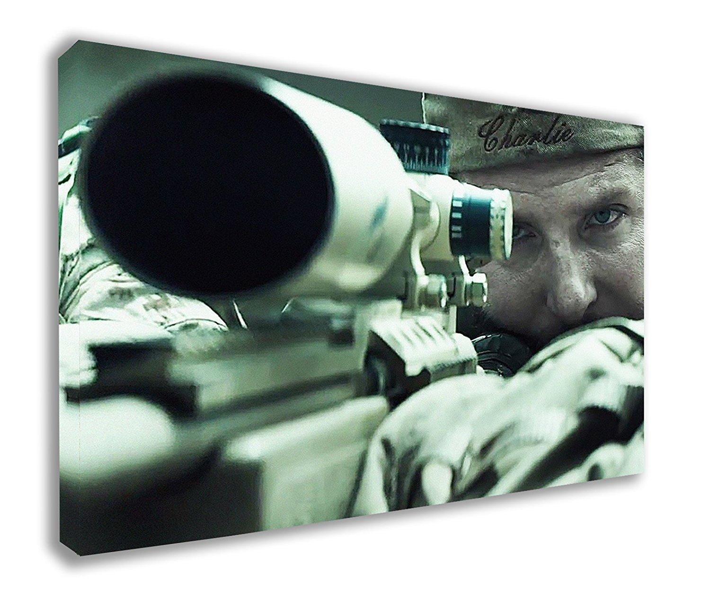American Sniper US Navy Seal Chris Kyle Bradley Cooper parete tela (111, 8 x 66 cm/110 x 65 cm) 8x 66cm/110x 65cm) Dynamo Printing Ltd