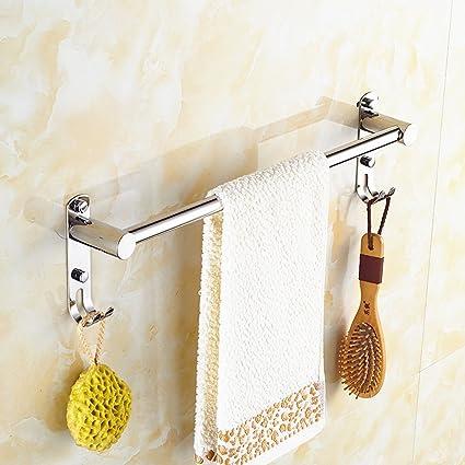 304 acero inoxidable barra de baño toalla de baño de una sola varilla alargada colgar la