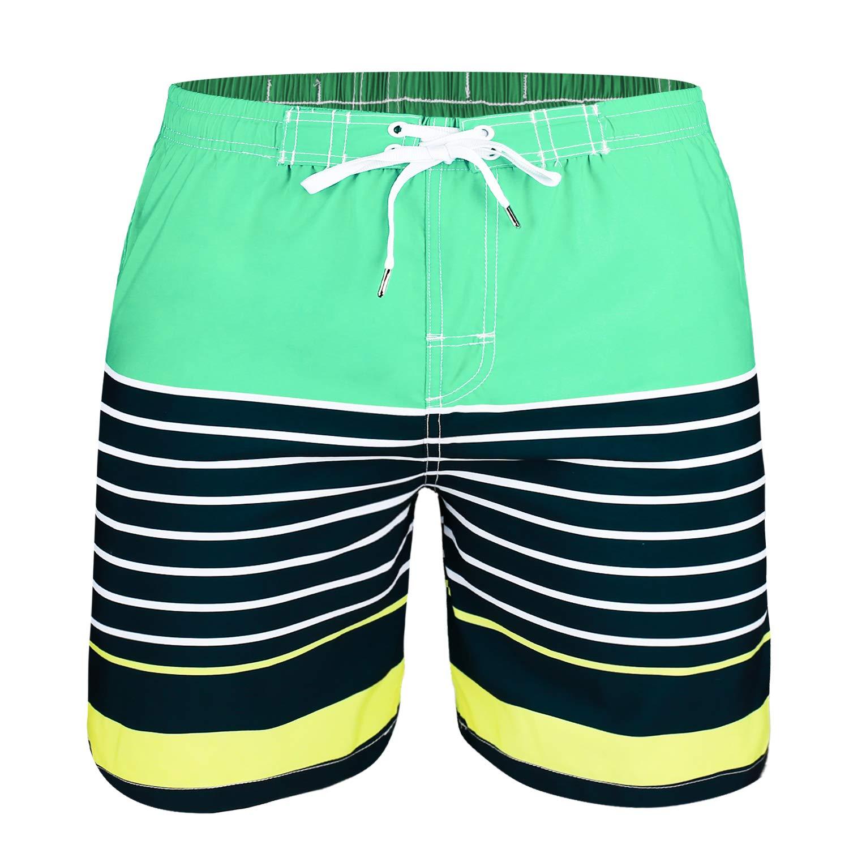 Quick Dry Striped Boys Swim Shorts UPF 50 Kute n Koo Boys Swim Trunks Boys Bathing Suit