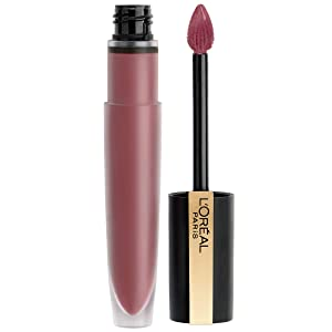 L'Oréal Paris Makeup Rouge Signature Matte Lip Stain, Weightless, High Pigment Lasting Color, I Rule, 0.23 oz.