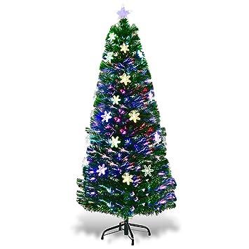 Image Unavailable - Amazon.com: Goplus 5FT Pre-Lit Fiber Optic Artificial Christmas Tree