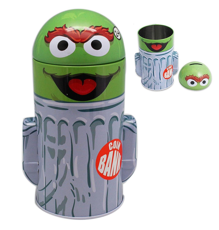 Buy Sesame Street Oscar The Grouch Trash Can Pop Off Top