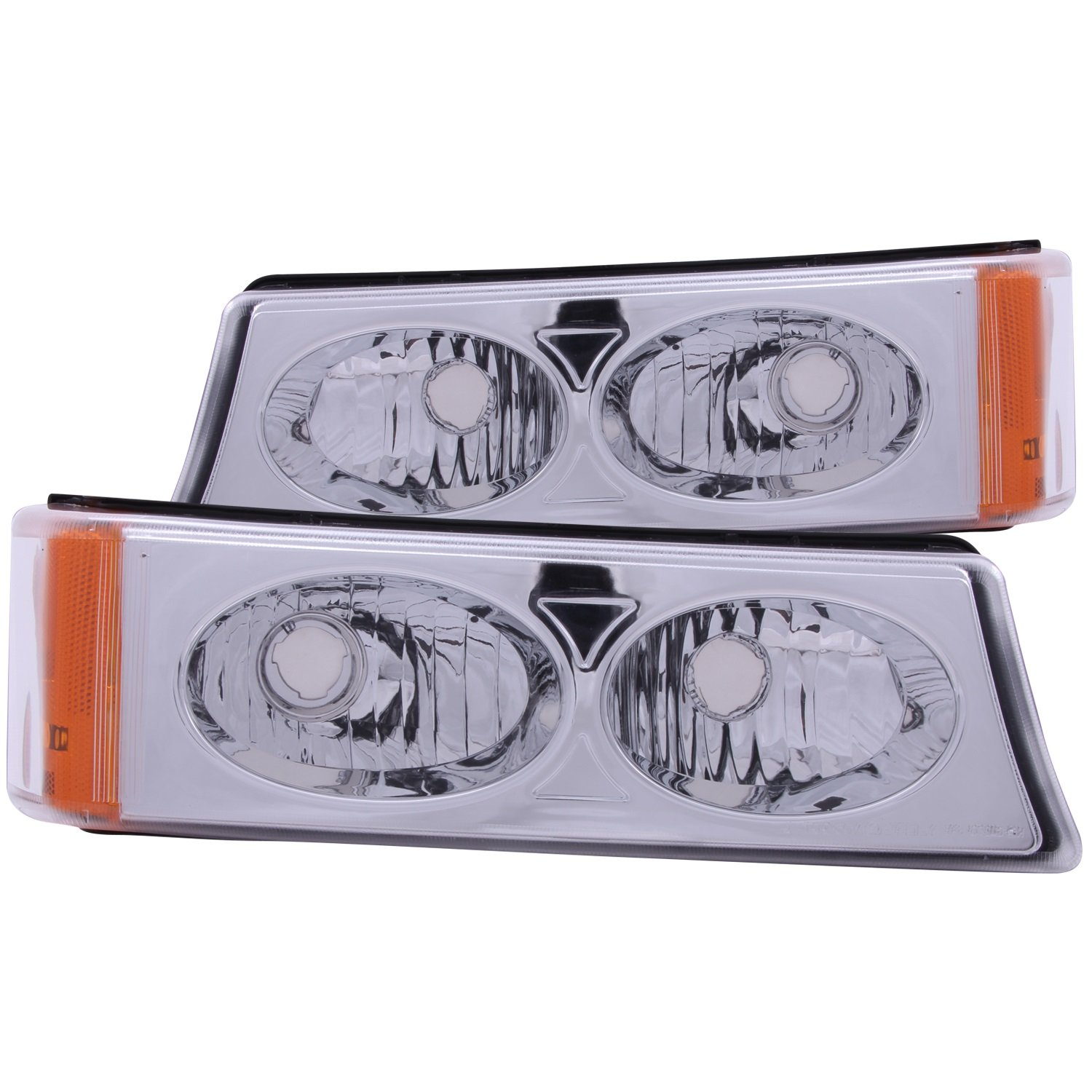 Anzo USA 511035 Chevrolet Avalanche/Silverado Chrome Crystal Lens Parking Light Assembly - (Sold in Pairs)