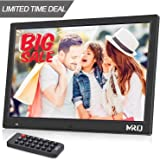MRQ 14.1 Inch Digital Photo Frame, 1280 * 800 HD Picture Video(1080P) Frame with Motion Sensor, MP3 Music, E-book, Calendar, Alarm Clock, supports Multiple File Formats and External USB SD Memory