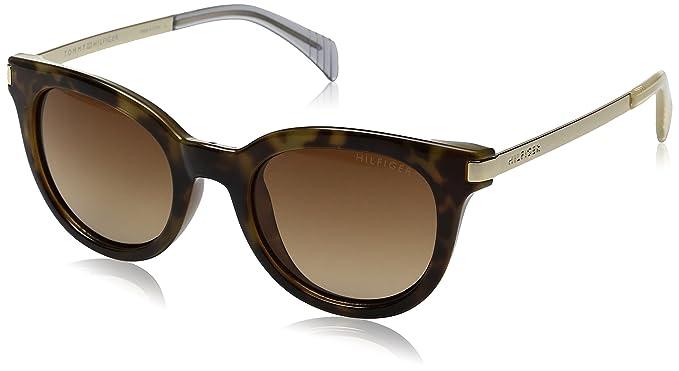 Tommy Hilfiger Women's Lad211 66396854 Cateye Sunglasses, Tokyo Tortoise  Tan Blue/Brown Gradient,