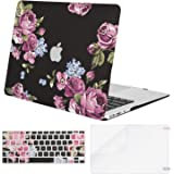 MOSISO MacBook Air 11 Inch Case A1370 & A1465,Pattern Plastic Hard Shell Case & Keyboard Cover & Screen Protector Compatible with MacBook Air 11 Inch, Peony