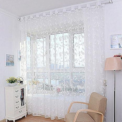 Voberry® tende per casa, 1 pz Fiore di modo tenda della finestra di ...