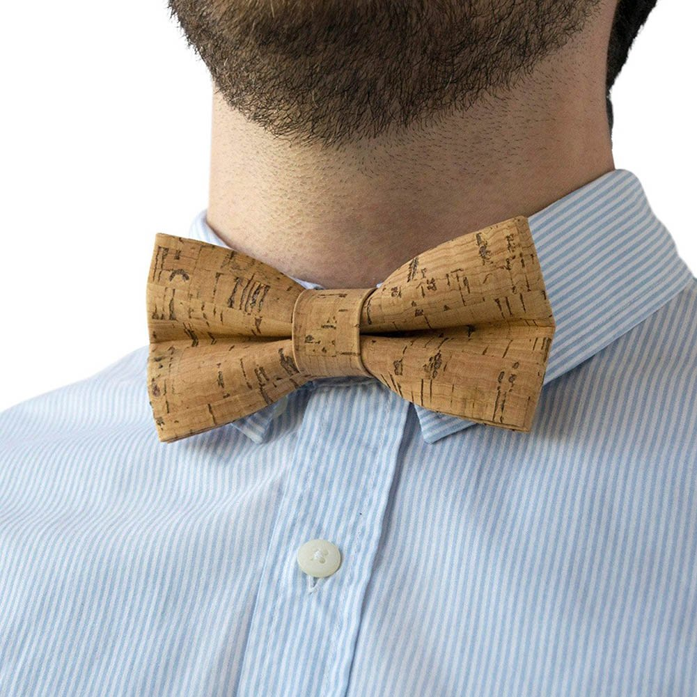 BAOBAO Handcrafted Wedding Party Mens Tuxedo Wood Bow Ties Bowtie with Gift Box