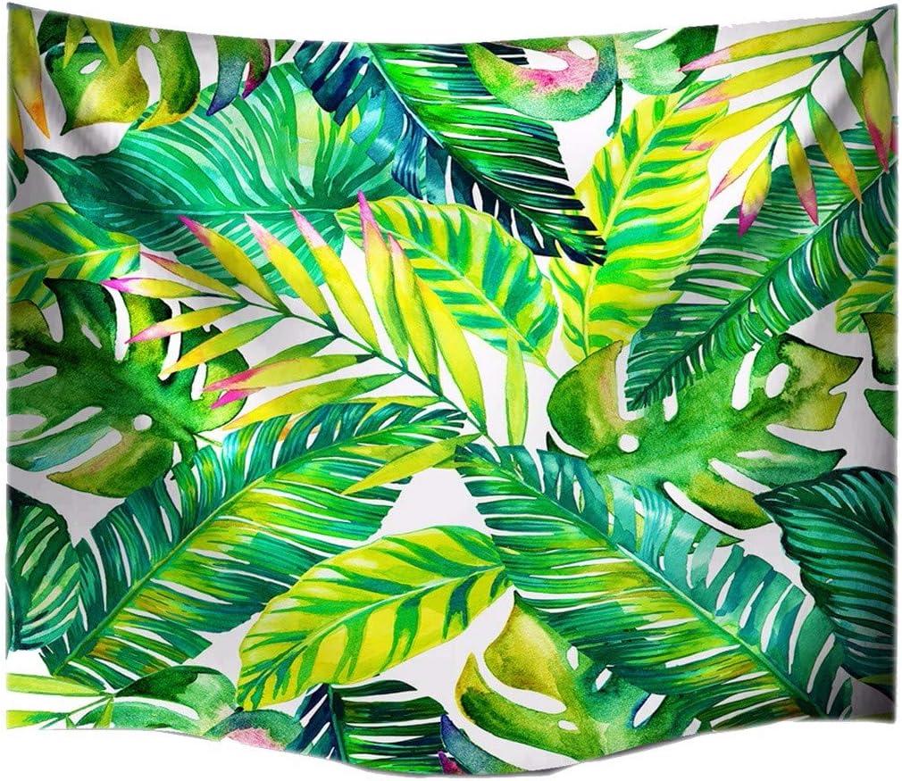 A.Monamour Tropicales Hojas De Palma Verde Primavera Tema Imprimir Tapicer/ía De Tela Decoraci/ón Colgante De Pared para Ni/ños Ni/ños Ni/ñas Dormitorio Dormitorios