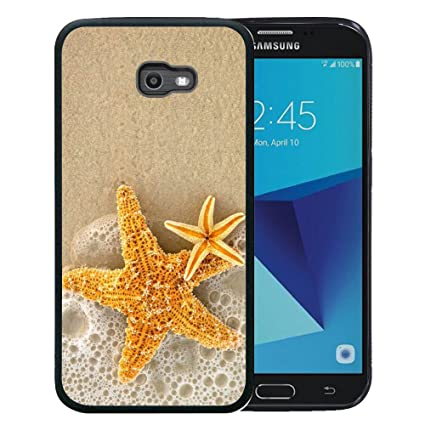 buy online b0079 f9902 Samsung Galaxy J7 2017 Case, Customized Black Soft Rubber TPU Case For  Galaxy J7 2017/J7 V/J7 Sky Pro/J7 Perx/J7V 2017/J7 Prime Yellow starfish ...