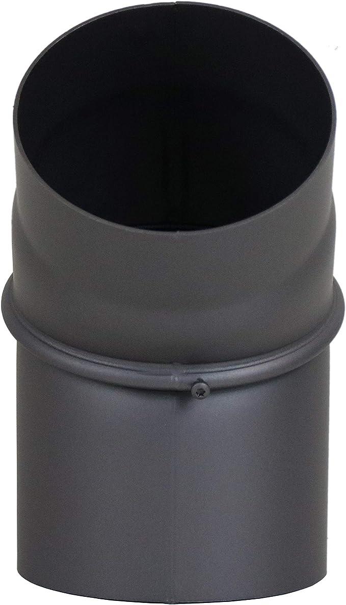 lanzzas humo Tubo estufa Tubo Arco Rodillera 11//° Sin Puerta fijo Di/ámetro 200/mm Gris